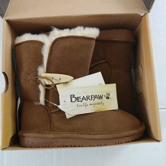 Girls Bear Paw Boots Size
